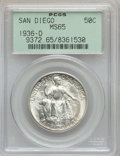 Commemorative Silver: , 1936-D 50C San Diego MS65 PCGS. PCGS Population (4011/841). NGCCensus: (1459/481). Mintage: 30,092. Numismedia Wsl. Price ...