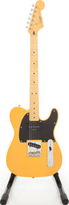 Musical Instruments:Electric Guitars, 2011 Fender Squire Vintage Modified Telecaster Butterscotch BlondeSolid Body Electric Guitar, Serial # ICS11177081. ...