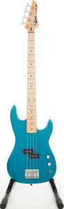 Musical Instruments:Bass Guitars, 1980s Cruise for VMI Teal Electric Bass Guitar. ...