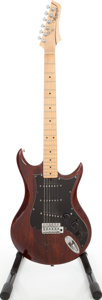 Musical Instruments:Electric Guitars, 1970s Vantage Avenger Burgundy Solid Body Electric Guitar, Serial #3070450. ...