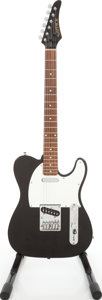 Musical Instruments:Electric Guitars, 1980s Samick LT-11 Telecaster Copy Black Solid Body ElectricGuitar. ...