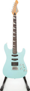 Musical Instruments:Electric Guitars, 1987 Martin Stinger SSX-10 Surf Green Solid Body Electric Guitar,Serial # 7120401....