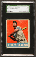 Baseball Cards:Singles (1940-1949), 1948 Leaf Ted Williams #76 SGC 20 Fair 1.5....