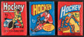 Hockey Cards:Lots, 1972, 1975 and 1976 Topps Hockey Unopened Wax Pack Trio (3). ...