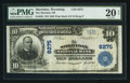 National Bank Notes:Wyoming, Sheridan, WY - $10 1902 Plain Back Fr. 625 The Sheridan NB Ch. #8275. ...