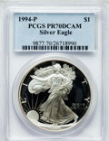 Modern Bullion Coins: , 1994-P $1 One Ounce Silver Eagle PR70 Deep Cameo PCGS. PCGSPopulation (157). NGC Census: (356). Mintage: 372,168. Numismed...