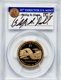 Proof Sacagawea Dollars, 2010-S $1 Native American Insert autographed By Philip N. Diehl,35th Mint Director U.S. Mint, PR69 Deep Cameo PCGS. PCGS P...