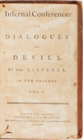 Books:Americana & American History, [John Macgowan]. Infernal Conference: or, Dialogues ofDevils. By the Listener. London and Philadelphia: Stewart...