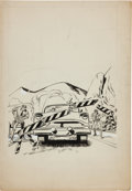 Original Comic Art:Covers, Joe Simon Studio Crime Comic Cover Original Art (undated)....