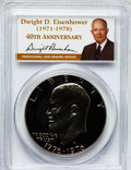 Proof Eisenhower Dollars: , 1976-S $1 Clad, Type One Insert autographed By Dwight D. Eisenhower(1971-1978) 40th Anniversary, PR69 Deep Cameo PCGS. PCG...