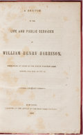 Books:Americana & American History, [Isaac Jackson]. A Sketch of the Life and Public Services ofWilliam Henry Harrison. New York Express, 1839. Sec...