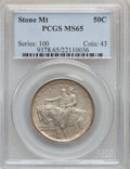 Commemorative Silver: , 1925 50C Stone Mountain MS65 PCGS. PCGS Population (2156/920). NGCCensus: (2226/789). Mintage: 1,314,709. Numismedia Wsl. ...