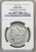 Morgan Dollars: , 1892 $1 -- Improperly Cleaned -- NGC Details. AU. NGC Census:(137/3482). PCGS Population (123/4845). Mintage: 1,037,245. N...