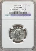 Standing Liberty Quarters: , 1920-D 25C -- Cleaned, Scratches -- NGC Details. XF. NGC Census:(8/197). PCGS Population (13/364). Mintage: 3,586,400. Num...