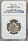 Standing Liberty Quarters: , 1924-D 25C -- Improperly Cleaned -- NGC Details. AU. NGC Census:(4/1220). PCGS Population (17/1535). Mintage: 3,112,000. N...