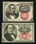 Fractional Currency:Fifth Issue, Fr. 1266 10¢ Fifth Issue New. Fr. 1308 25¢ Fifth Issue New.. ...(Total: 2 notes)