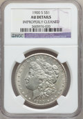 Morgan Dollars: , 1900-S $1 -- Improperly Cleaned -- NGC Details. AU. NGC Census:(47/3035). PCGS Population (91/4767). Mintage: 3,540,000. N...