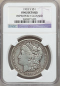 Morgan Dollars: , 1903-S $1 -- Improperly Cleaned -- NGC Details. Fine. NGC Census:(76/1517). PCGS Population (118/2209). Mintage: 1,241,000...