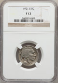 Buffalo Nickels: , 1921-S 5C Fine 12 NGC. NGC Census: (79/714). PCGS Population(141/1044). Mintage: 1,557,000. Numismedia Wsl. Price for prob...
