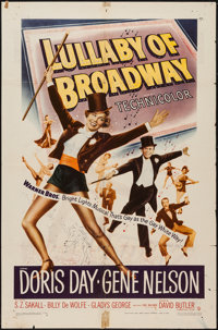 "Lullaby of Broadway & Other Lot (Warner Brothers, 1951). One Sheet (27"" X 41"")& Trimmed Half Sheet (21..."