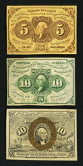 Fractional Currency:First Issue, A Trio of Fractional Notes.. ... (Total: 3 notes)