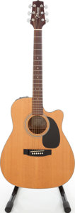 Musical Instruments:Acoustic Guitars, 1980 Takamine EG-330C Natural Acoustic Electric Guitar, Serial #80716670....