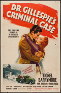 "Movie Posters:Mystery, Dr. Gillespie's Criminal Case (MGM, 1943). One Sheet (27"" X 41"").Mystery.. ..."