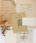 Books:Americana & American History, [Americana]. Five Miscellaneous American Pamphlets or Ephemera. Oneis a list of ladies who contributed to making the flag u...