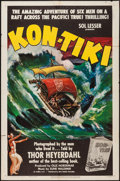 "Movie Posters:Documentary, Kon-Tiki (RKO, 1951). One Sheet (27"" X 41""). Documentary.. ..."