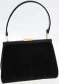 Luxury Accessories:Bags, Gucci Black Ponyhair and Leather Top Handle Classic Bag. ...