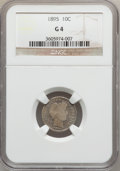 Barber Dimes: , 1895 10C Good 4 NGC. NGC Census: (7/137). PCGS Population (7/201).Mintage: 690,000. Numismedia Wsl. Price for problem free...