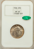 Standing Liberty Quarters: , 1926 25C MS65 NGC. CAC. NGC Census: (109/27). PCGS Population(149/35). Mintage: 11,316,000. Numismedia Wsl. Price for prob...