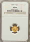 Gold Dollars: , 1849-O G$1 Open Wreath AU55 NGC. NGC Census: (78/478). PCGSPopulation (55/178). Mintage: 215,000. Numismedia Wsl. Price fo...