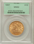 Liberty Eagles: , 1897 $10 MS62 PCGS. PCGS Population (1881/727). NGC Census:(3491/1420). Mintage: 1,000,159. Numismedia Wsl. Price for prob...