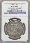 Trade Dollars: , 1878-S T$1 -- Improperly Cleaned -- NGC Details. XF. NGC Census:(48/680). PCGS Population (93/909). Mintage: 4,162,000. Nu...