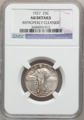 Standing Liberty Quarters: , 1927 25C -- Improperly Cleaned -- NGC Details. AU. NGC Census:(11/720). PCGS Population (17/928). Mintage: 11,912,000. Num...