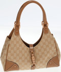 Luxury Accessories:Bags, Gucci Classic Monogram Canvas Bardot Shoulder Bag with Rose GoldPiston Hardware. ...