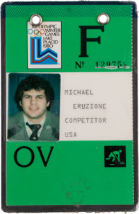 1980 Mike Eruzione Olympics Player Credential