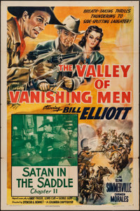 "The Valley of Vanishing Men (Columbia, 1942). One Sheet (27"" X 41"") Chapter 11 -- ""Satan in the Saddle.&q..."