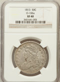 Bust Half Dollars: , 1813 50C XF40 NGC. O-106a. NGC Census: (31/622). PCGS Population(56/393). Mintage: 1,241,903. Numismedia Wsl. Price for p...