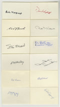 """Autographs:Index Cards, Baseball Hall of Famers Signed Index Cards Lot of 12. Here we offer one dozen 3x5"""" index cards, each bearing a single signa..."""