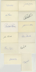 Autographs:Index Cards, Baseball Hall of Famers Signed Index Cards Lot of 12. Yet anotherfine sampling of Hall of Fame autographs is made availabl...