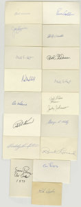 Autographs:Index Cards, Baseball Hall of Famers Signed Index Cards Lot of 17. Marvelous collection we offer here brings together seventeen single-s...