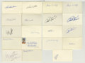 Autographs:Index Cards, Baseball Hall of Famers Signed Index Cards Lot of 18. Adding to thevast HOFer signed index cards we have made available fo...