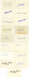 Autographs:Index Cards, Massive Collection of Signed Index Cards Lot of Over 225. Highlights include: Joe Adcock, Ewell Blackwell, Phil Cavarretta ...