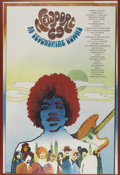 Music Memorabilia:Posters, Newport Music Festival Featuring Jimi Hendrix (1969). Trippygraphic images of Jimi Hendrix dominate this poster for one of...(Total: 1 Item)