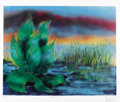 """Music Memorabilia:Autographs and Signed Items, Jerry Garcia - """"Wetlands II"""" Signed Limited Edition Litho Print,498/500 (1990). Beautiful still-life illustration from the...(Total: 1 Item)"""