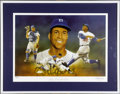 Baseball Collectibles:Others, Roy Campanella Signed Lithograph. From the art of esteemed sportsillustrator Christopher Paluso comes this fantastically r...