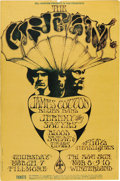 Music Memorabilia:Posters, Cream Fillmore/Winterland Concert Poster BG-110 (Bill Graham,1968). The mighty power-rock trio, featuring Eric Clapton, he...(Total: 1 Item)