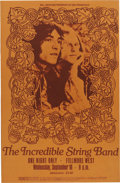 Music Memorabilia:Posters, Incredible String Band Fillmore West Concert Poster (Bill Graham,1969). This psychedelic folk band from Scotland, featurin...(Total: 1 Item)